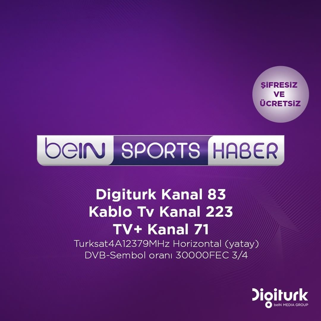 Bein Sports Haber Digitürkte kaçıncı kanalda yer alıyor İşte Bein Sports Haber frekans bilgileri 17